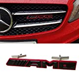 mercedes benz c230 emblem - Ricoy AMG Logo Matt Metal Front Hood Grille Grill Emblem Badge For Mercedes-Benz
