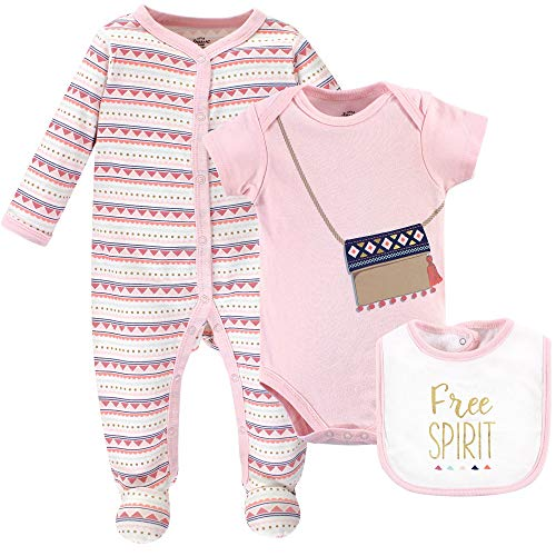 Little Treasure Unisex Baby Sleep and Play Bodysuit and Bib