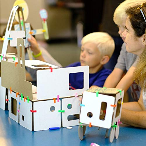 Cardboard Construction Kit with LED Lighting - Educational with Over 900 Pieces, Perfect for Learning STEM, STEAM, and Circuits in School and at Home by 3DuxDesign GOBOXPRO10 by 3DUX DESIGN (Image #6)