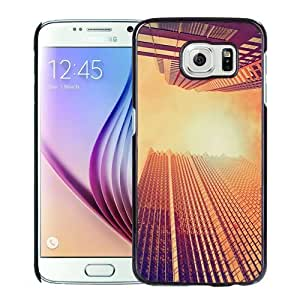 Fashionable Custom Designed Samsung Galaxy S6 Phone Case With Skyscrapers At Noon Look Up_Black Phone Case