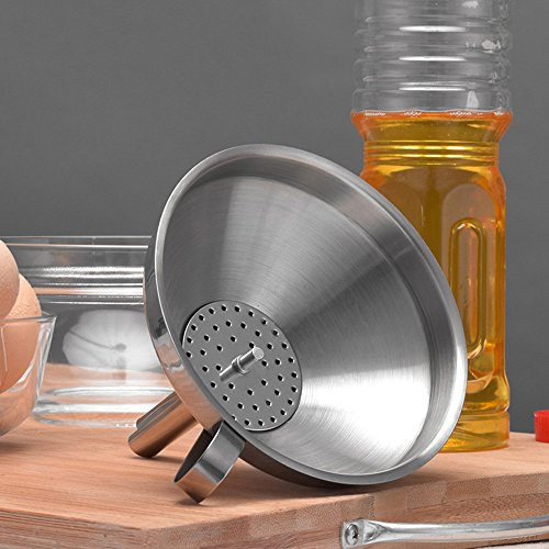 Maikouhai Stainless Steel Funnel for Kitchen Home Mini