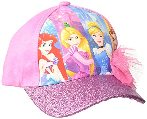 Disney Little Girls Princess Character Cotton Baseball Cap, Pink, Age 4-7