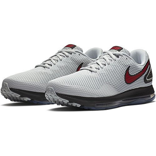 NIKE Herren Zoom All Out Low 2 Laufschuh Pure Platinum / University Rot Schwarz Schwarz / Weiß-Anthrazit