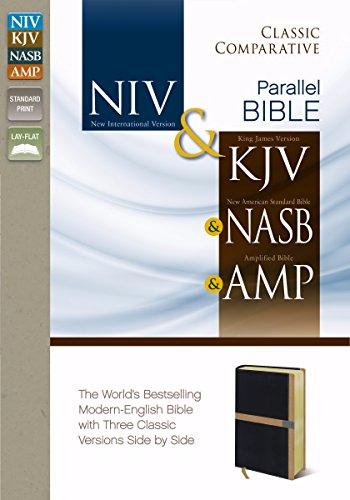 Blk Amp (Classic Comparative Side-By-Side-NIV/KJV/NAS/AMP-Blk/Caramel)