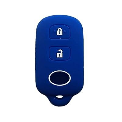 Rpkey Silicone Keyless Entry Remote Control Key Fob Cover Case protector For Scion xA xB Toyota Celica Echo FJ Cruiser Highlander Prius RAV4 Tacoma Tundra Yaris HYQ12BBX HYQ12BAN 89742-42120 13663: Automotive
