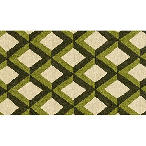 Loloi Rugs, Venice Beach Collection - Green Trellis Area Rug, 2'-3