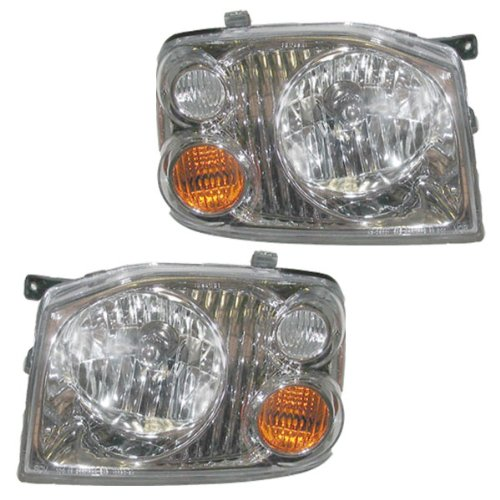 01-04 Nissan Frontier XE Pickup Truck Headlights Headlamps Lights Lamps Pair Set (Nissan Frontier Headlamp compare prices)