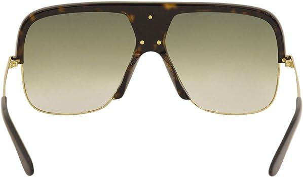 Amazon.com: Gafas de sol Gucci GG 0478 S- 002 Havana / verde ...