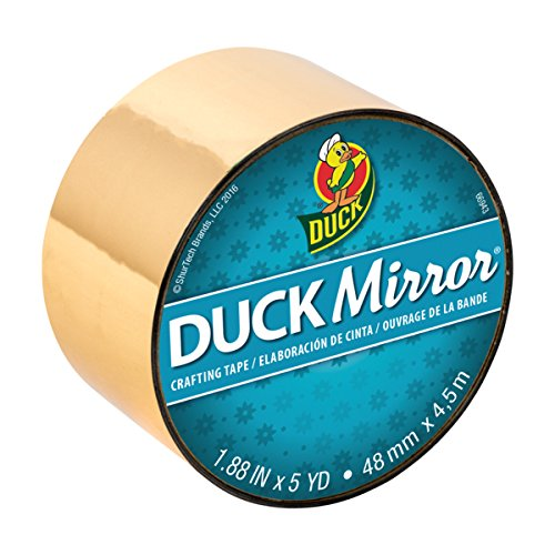 Duck Brand Duck Mirror Crafting Tape, 1.88 Inches x 5 Yards, Gold (Gold Duct Tape)