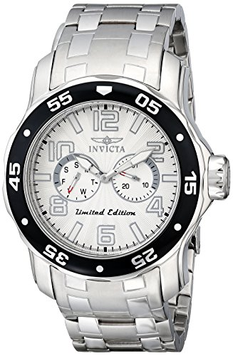 """Invicta Men's 18035SYB """"Pro Diver"""" Stainless Steel Watch"""