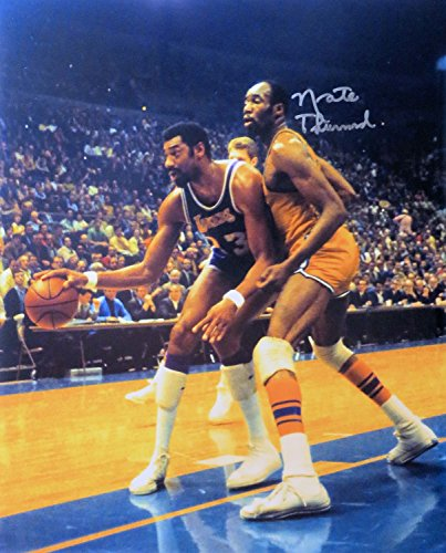 Nate Thurmond Signed Autographed 16X20 Photo Warriors Bumping Chamberlain w/COA by Cardboard Legends Online