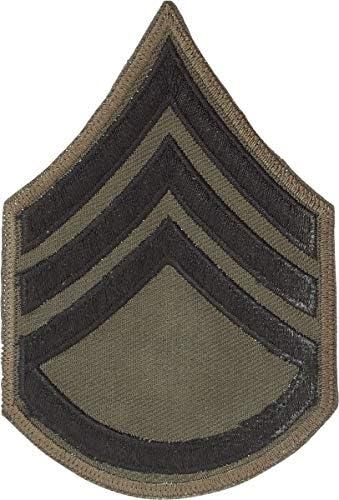 US ARMY 戦闘服用階級章 ミリタリーワッペン OD