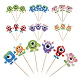 Lauren 24 Pcs Cupcake Toppers Little Monster CupCake Decorative Toppers Cake Decorating Tools for Party