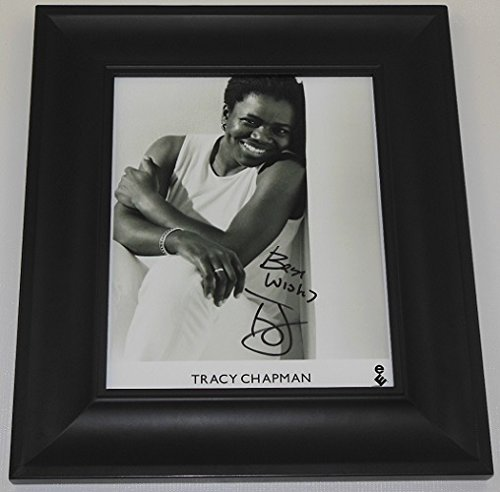 Tracy Chapman Crossroads Signed Autographed B/W 8x10 Glossy Photo Gallery Framed - Gift Crossroads Shop