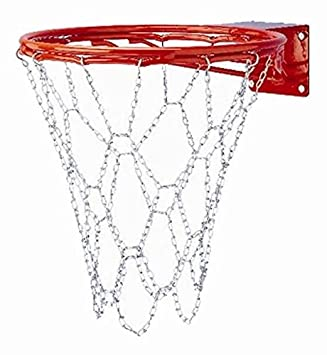 Gared acero cadena Red de baloncesto para doble bumped-ring ...