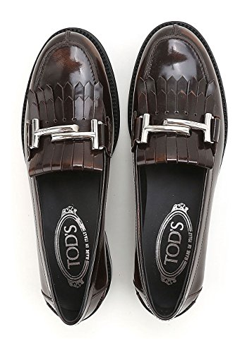 Tod's Leather Moccasin Womens In Brown gw6rUgPq
