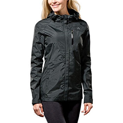 Paradox Waterproof & Breathable Women's Rain Jacket Black Dots Large