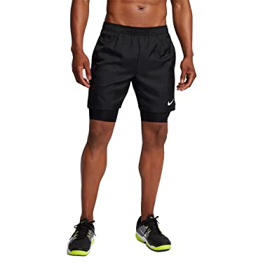 huge discount b9a70 a149f NIKE Men`s Dry Court 2-in-1 9quot Tennis Shorts (