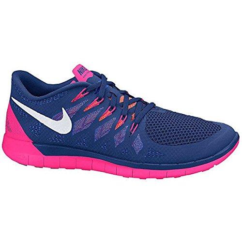 Nike Men's Free 5.0, OBSIDIAN/VOLT-PHOTO BLUE-DARK MAGNET GREY, 11.5 M US