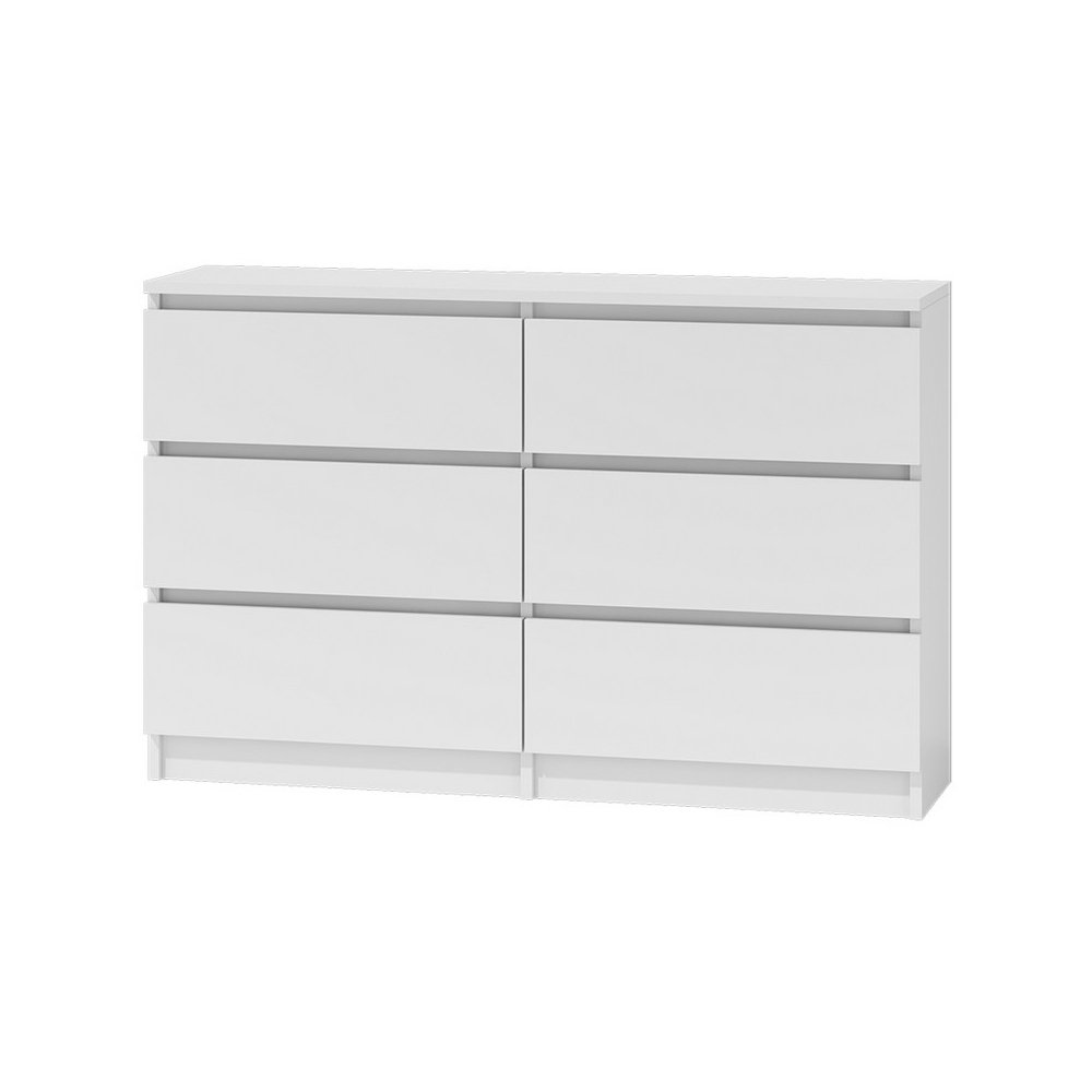 Selsey Clino 6 - Cómoda Moderna/Mueble de almacenaje con 6 cajones (138 cm, Bianco)