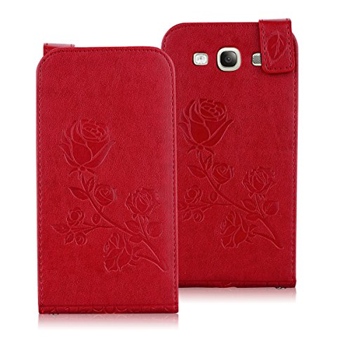 TOTOOSE Samsung Galaxy S3 i9300 Case,Samsung Galaxy S3 i9300 Case,Space Premium PU Leather Wallet Snap Case Space Space Flip Case Replacement for Samsung Galaxy S3 i9300 Red