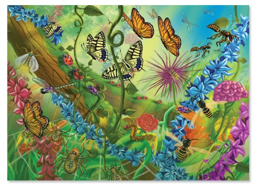 Melissa and Doug World of Bugs 60 Piece Jigsaw Puzzle ()