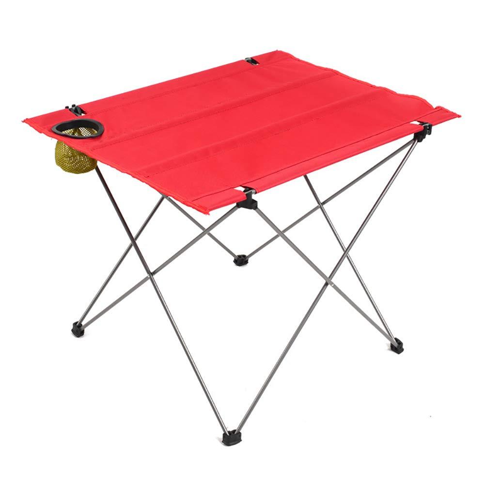 PM-TAIDU Mesa Plegable Al Aire Libre Mesa de Camping, Portátil Puesto Picnic Comedor Tabla del Ordenador portátil, Rojo, 68 * 48 * 38 cm: Amazon.es: Hogar