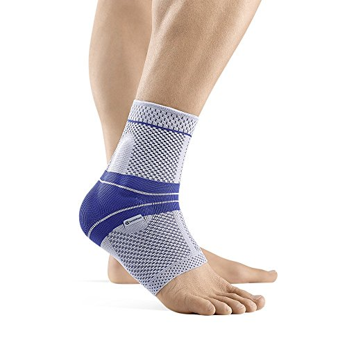 Bauerfeind - MalleoTrain - Ankle Support Brace - Helps Stabilize The Ankle Muscles and Joints for Injury Healing and Pain Relief - Right Foot - Size 1 - Color Titanium by Bauerfeind