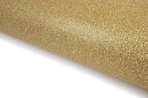 Glitter Sand Self Adhesive Shelf Liner Film Vinyl Peel-Stick Multipurpose Craft Cards (Gold 61cm x 1m(24