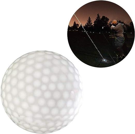 Lin-Tong - Pelota de Golf con luz led (Goma, Intermitente, para ...