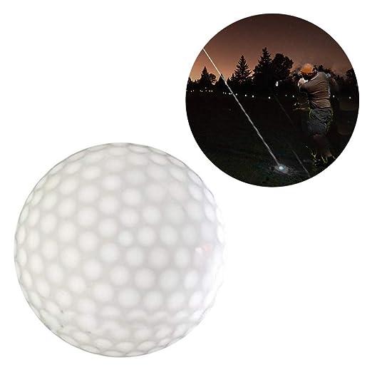 Nanlille - Pelota de Golf con luz LED (Parpadeante, luz ...