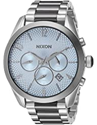 Nixon Womens Bullet Chrono Quartz Stainless Steel Watch, Color:Silver-Toned (Model: A3662363-00)