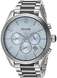 Nixon Women's 'Bullet Chrono' Quartz Stainless Steel Watch, Color:Silver-Toned (Model: A3662363-00)