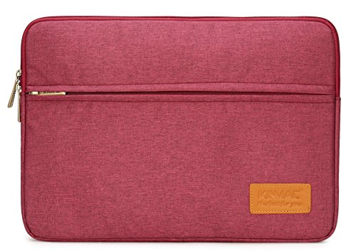 Kinmac Wine Red 15 inch Waterproof Laptop Sleeve with Pocket for 15 inch 15.6 inch Laptop