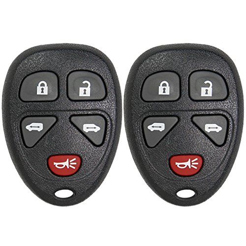 (Keyless2Go Keyless Entry Car Key Fob Replacement for Vehicles That Use 5 Button 15788020 KOBGT04A Remote - 2 Pack)