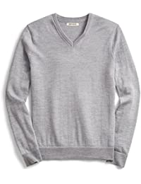 Mens V-Neck Merino Sweater