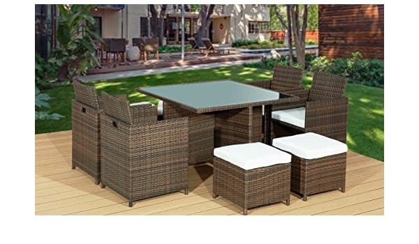 Frankfurt & Co - Set de muebles de jardín que forman un cubo ...