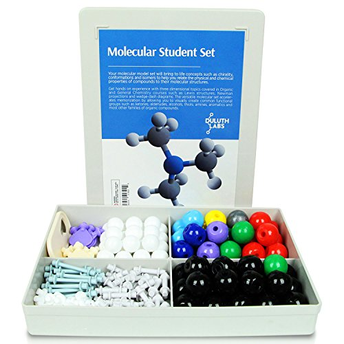 Duluth Labs Organic Chemistry Molecular Model Student Set    72 Atoms And 108 Bond Parts    Mm 005