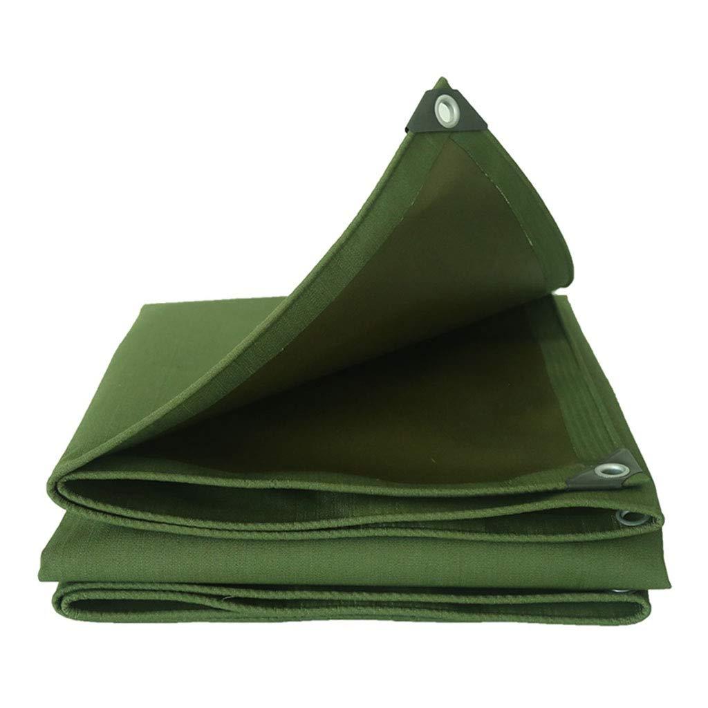 YX-Planen Heavy-Duty-Plane Wasserdichtes Mehrzweck-Grün - Hohe Dichte 100% wasserdicht und UV-geschützt - Dicke 0,72 mm, 600 g m²