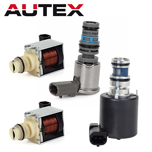 AUTEX 4T65E Automatic Transmission Master Solenoids Shift EPC TCC Kit for Chevrolet GM 1997-2002 - Kickdown Solenoid