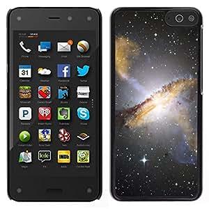 Caucho caso de Shell duro de la cubierta de accesorios de protección BY RAYDREAMMM - Amazon Fire Phone - Estrellas del cielo nocturno Hubble Ver fotos Galaxy Amarillo