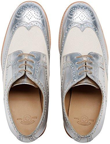 Wellensteyn Schuhe Malhony Vintage poliertes Leder Silber