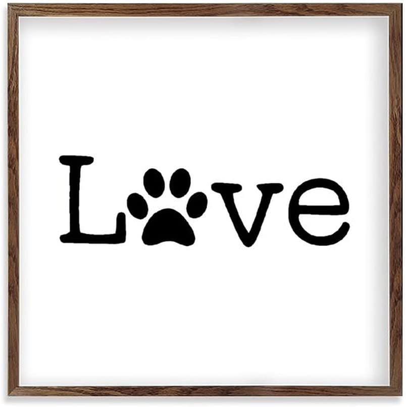 by Unbranded Personalized Kitchen Sign | Customized Signs for Home Decor | Farmhouse Kitchen Wall Decor Housewarming Wedding Gifts Love, Paw Print, Dog, Pet, 12x12 Inch