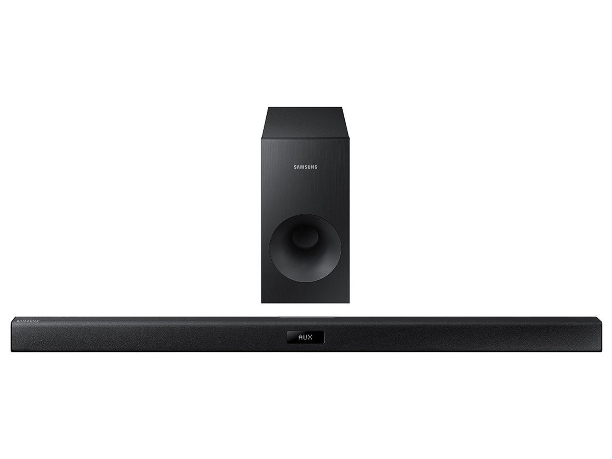 Samsung HW-J355-R 2.1 Soundbar & Wired Subwoofer System With Bluetooth, Black (Certified Refurbished) by Samsung
