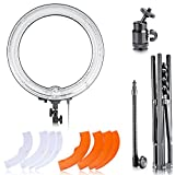 "Neewer 18"" Dimmable Fluorescent Ring Light Kit: 75W 5500K Ring Light, Light Stand, Soft Tube, Filter and Bag for Photography YouTube Self Video Make-up"