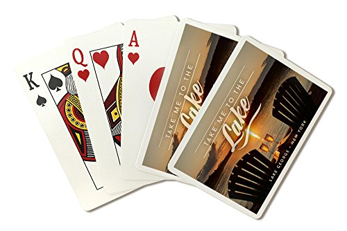 Lake George, New York - Take Me to the Lake - Sunset View (Playing Card Deck - 52 Card Poker Size with Jokers) by Lantern Press