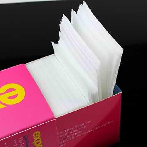 GBSTORE 325 Pcs Lint Free Nail Art Gel Polish Remover Cotton Pad Nail Wipe
