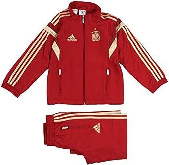 adidas Chándal Burdeos Selección España Niño Rojo Granate: Amazon.es: Ropa y accesorios