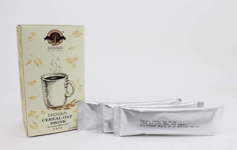 4. Hoga Cereal Oat Drink 100% Natural Organic with Agarwood Matcha (Vanilla Flavor), Total 10 sticks (0.88 oz per stick) by GOPENG· PERAK HOGA