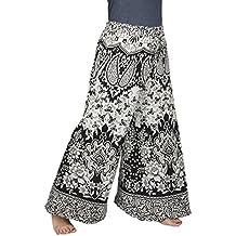Store Indya 100% Cotton Womens Palazzo Pants For Yoga With Jaipur Mandala Print